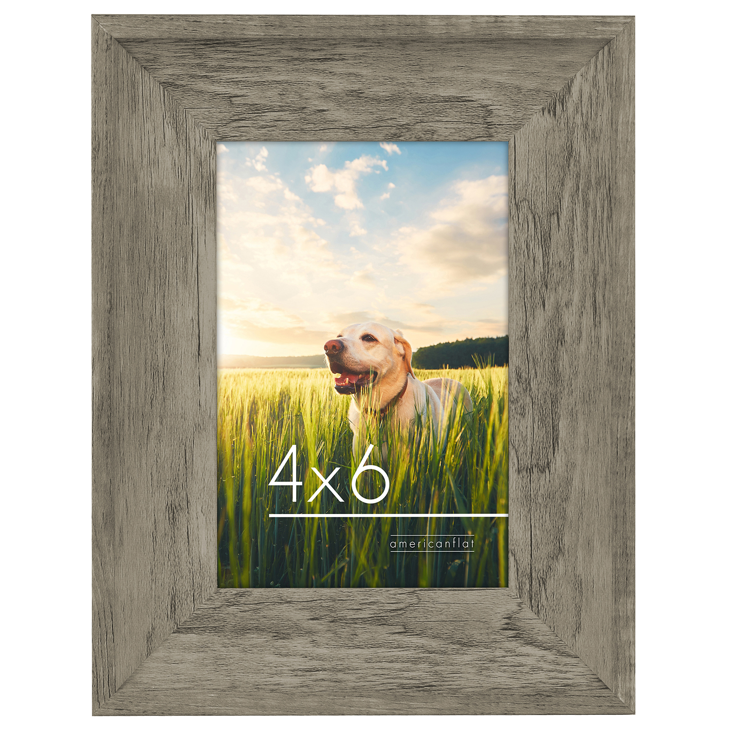 miniature 5 - Americanflat Wood Picture Frame 4x6 5x7 8x10 Wall Tabletop Easel Pick Size Color