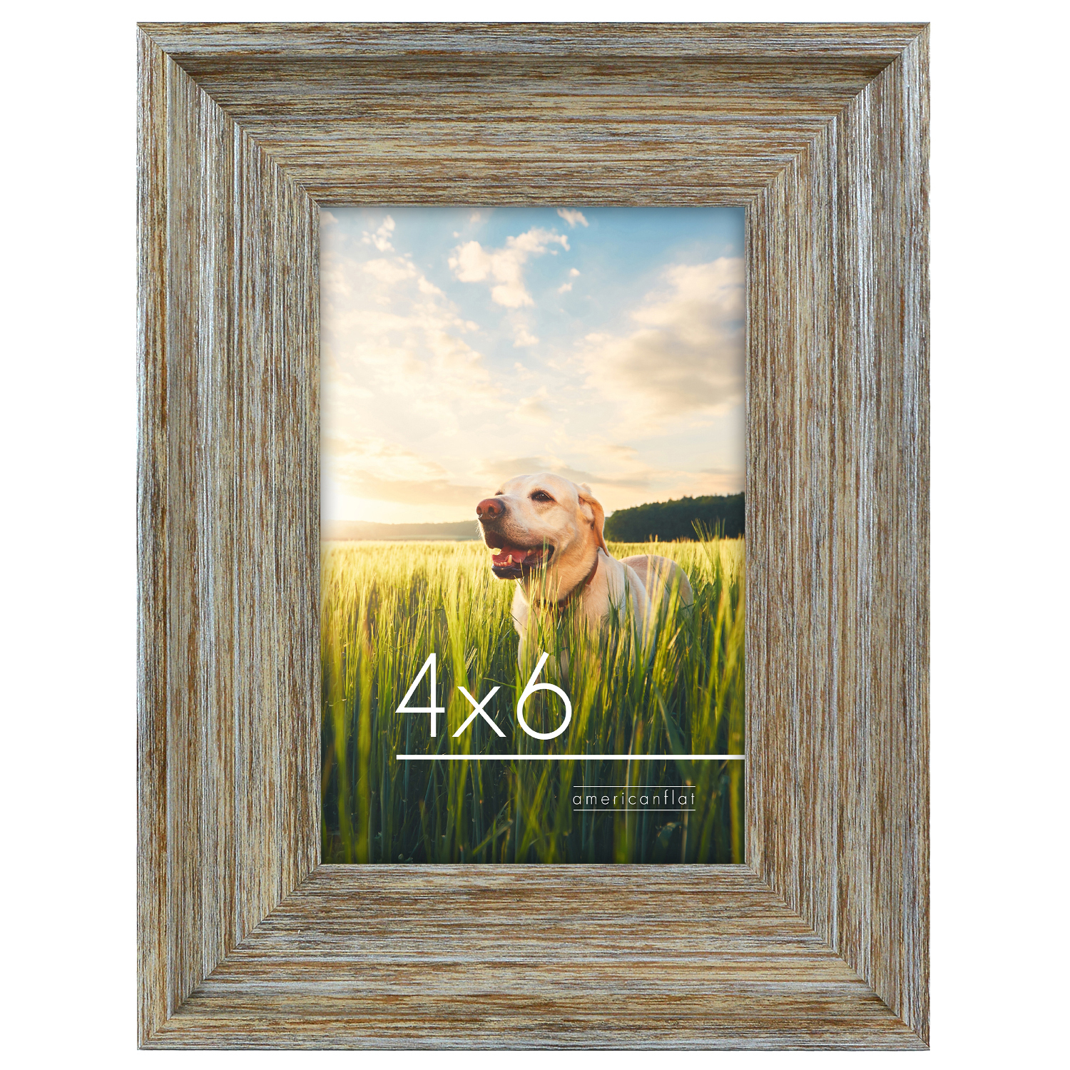 miniature 8 - Americanflat Wood Picture Frame 4x6 5x7 8x10 Wall Tabletop Easel Pick Size Color