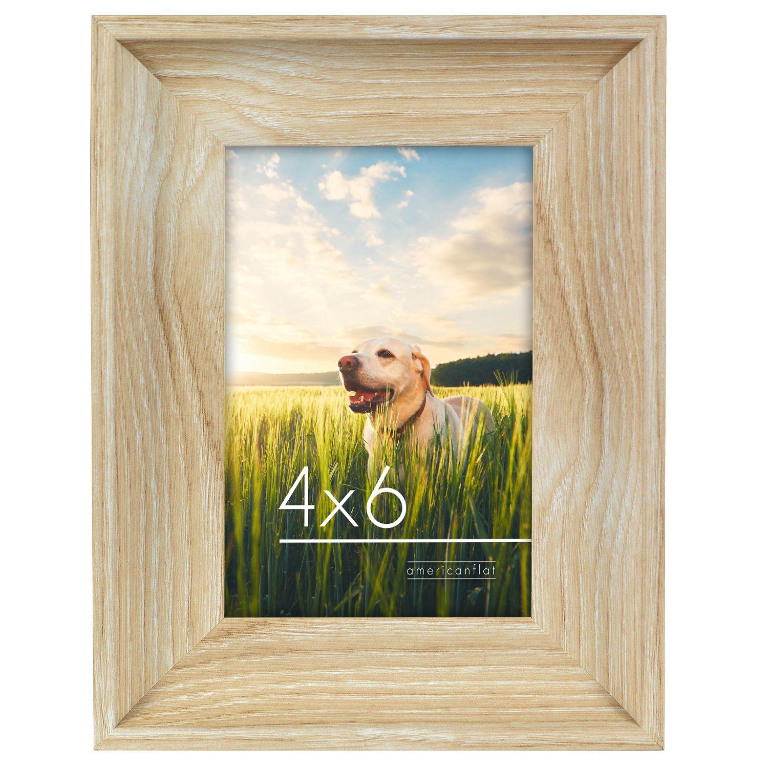 miniature 11 - Americanflat Wood Picture Frame 4x6 5x7 8x10 Wall Tabletop Easel Pick Size Color