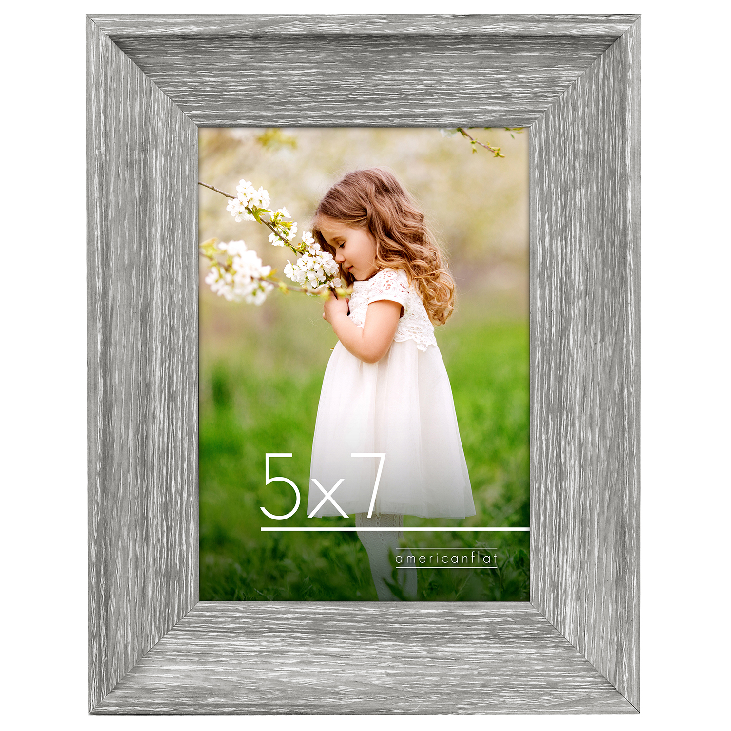 miniature 3 - Americanflat Wood Picture Frame 4x6 5x7 8x10 Wall Tabletop Easel Pick Size Color