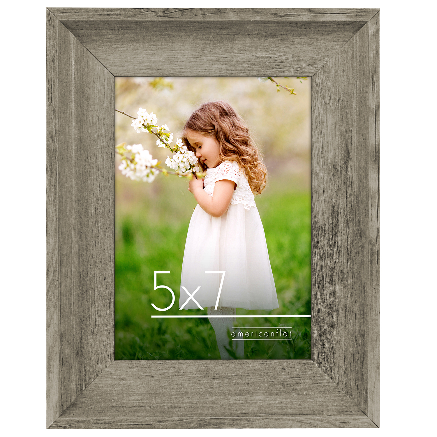 miniature 6 - Americanflat Wood Picture Frame 4x6 5x7 8x10 Wall Tabletop Easel Pick Size Color