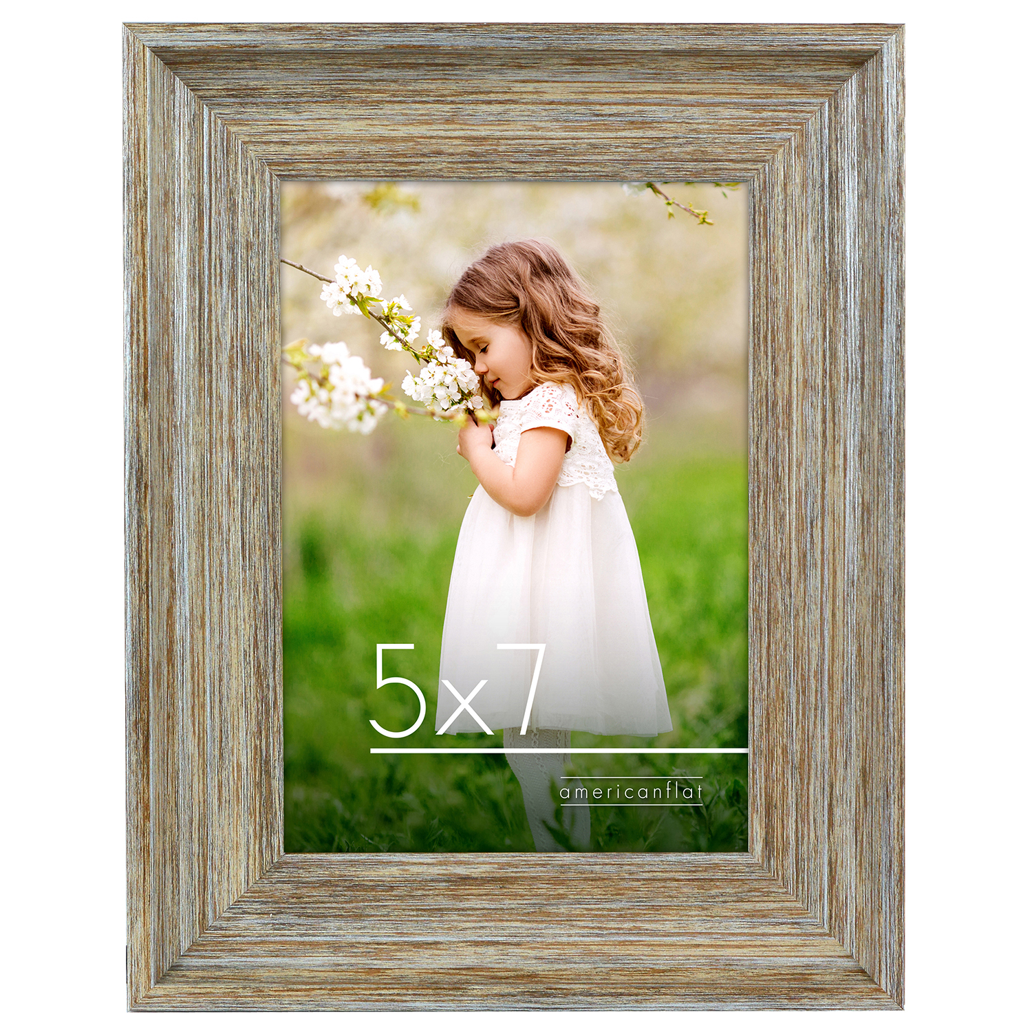miniature 9 - Americanflat Wood Picture Frame 4x6 5x7 8x10 Wall Tabletop Easel Pick Size Color