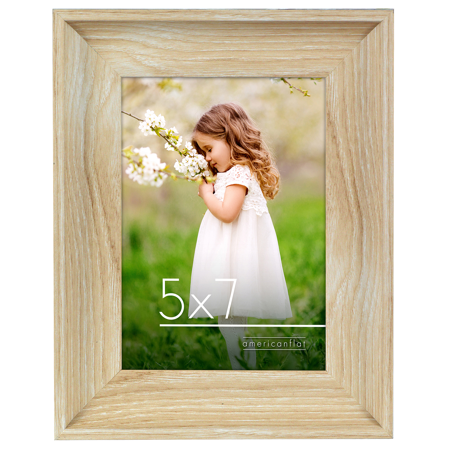 miniature 12 - Americanflat Wood Picture Frame 4x6 5x7 8x10 Wall Tabletop Easel Pick Size Color