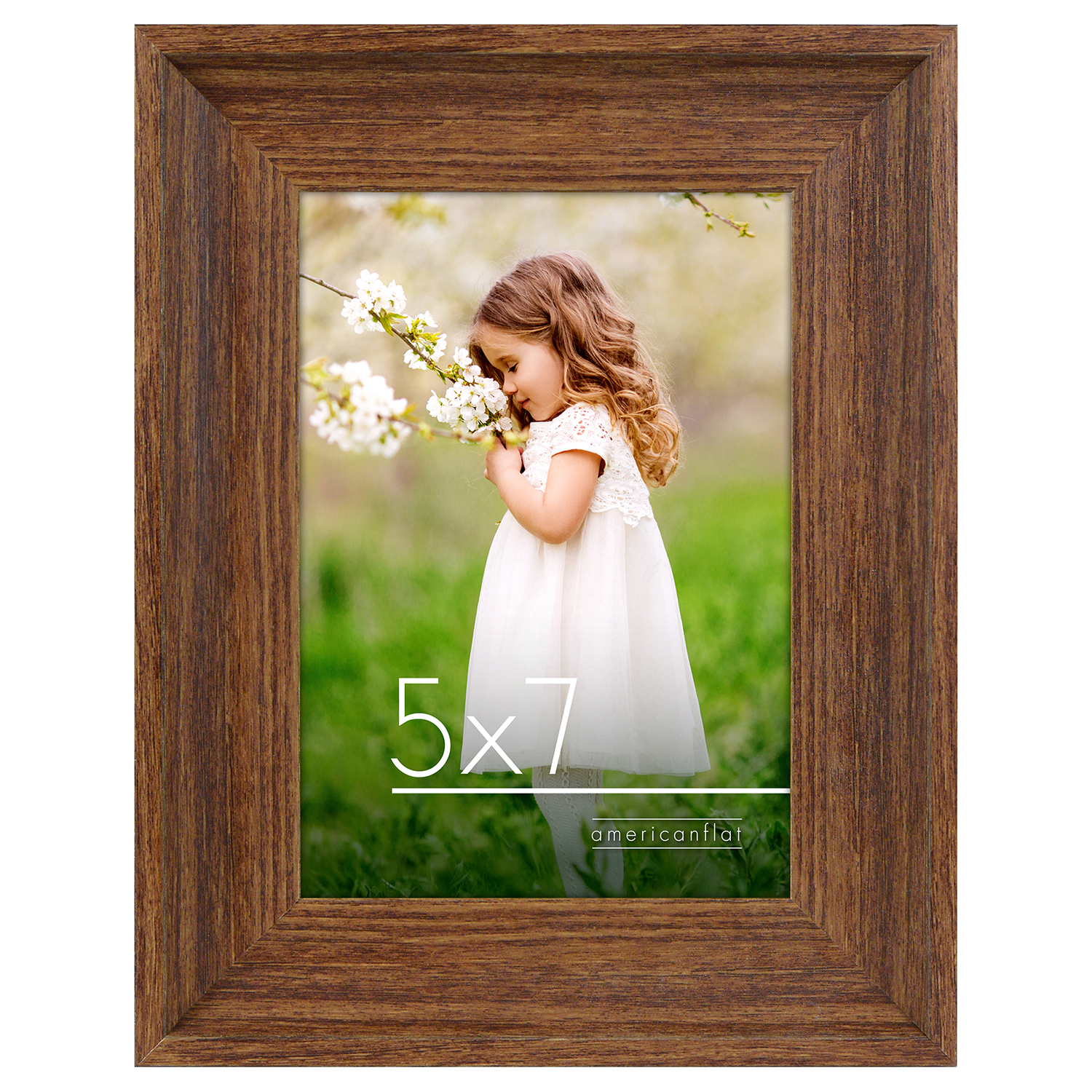 miniature 15 - Americanflat Wood Picture Frame 4x6 5x7 8x10 Wall Tabletop Easel Pick Size Color