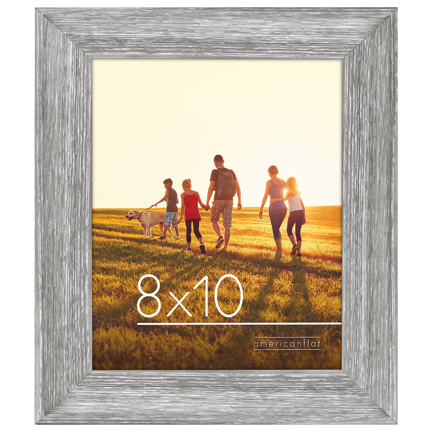 miniature 4 - Americanflat Wood Picture Frame 4x6 5x7 8x10 Wall Tabletop Easel Pick Size Color