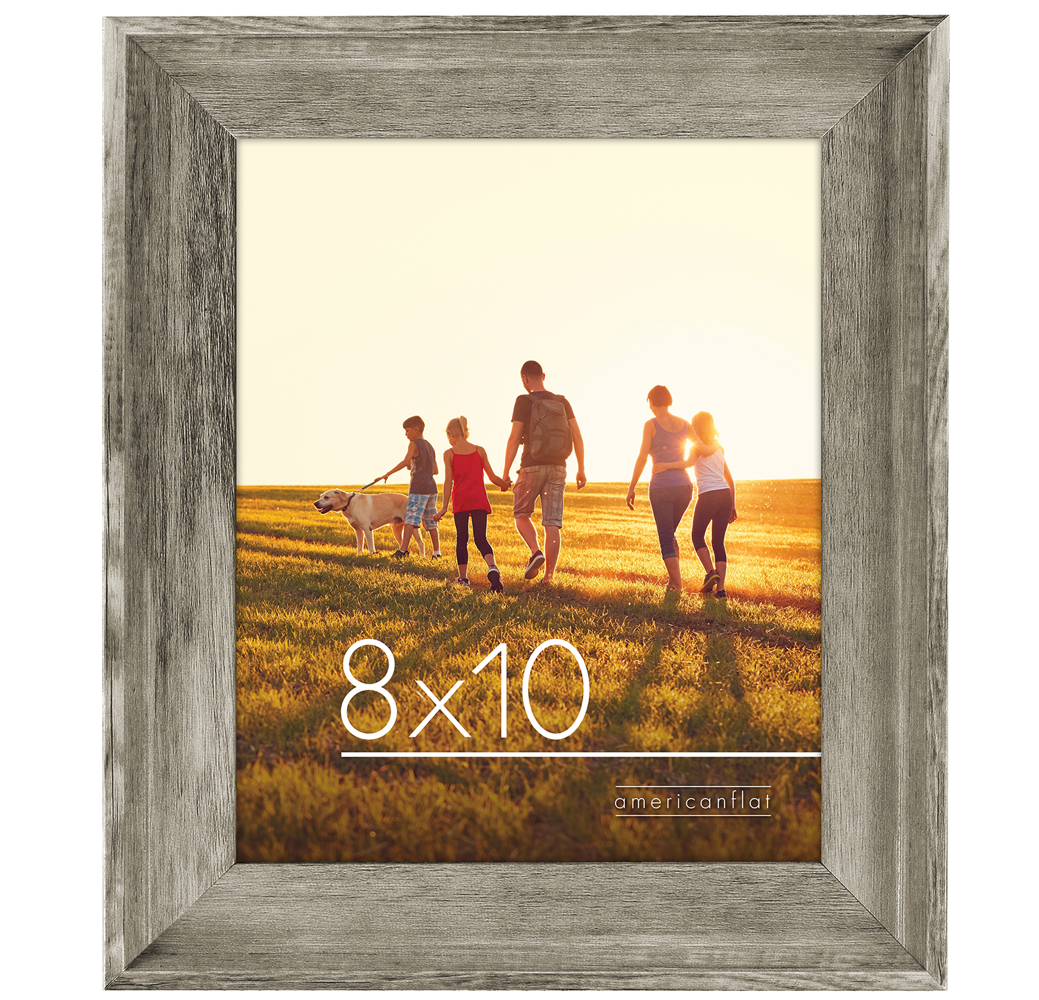 miniature 7 - Americanflat Wood Picture Frame 4x6 5x7 8x10 Wall Tabletop Easel Pick Size Color