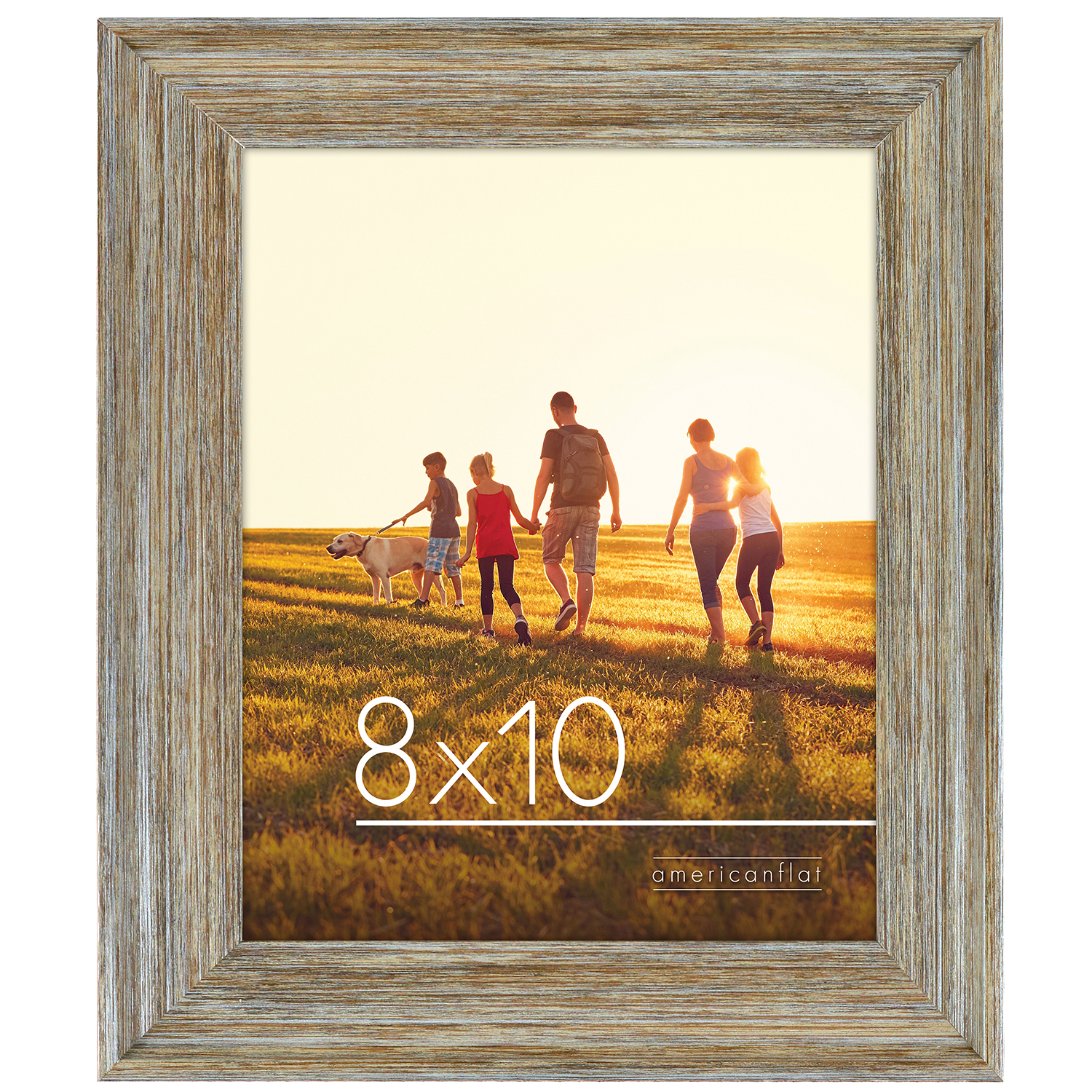 miniature 10 - Americanflat Wood Picture Frame 4x6 5x7 8x10 Wall Tabletop Easel Pick Size Color