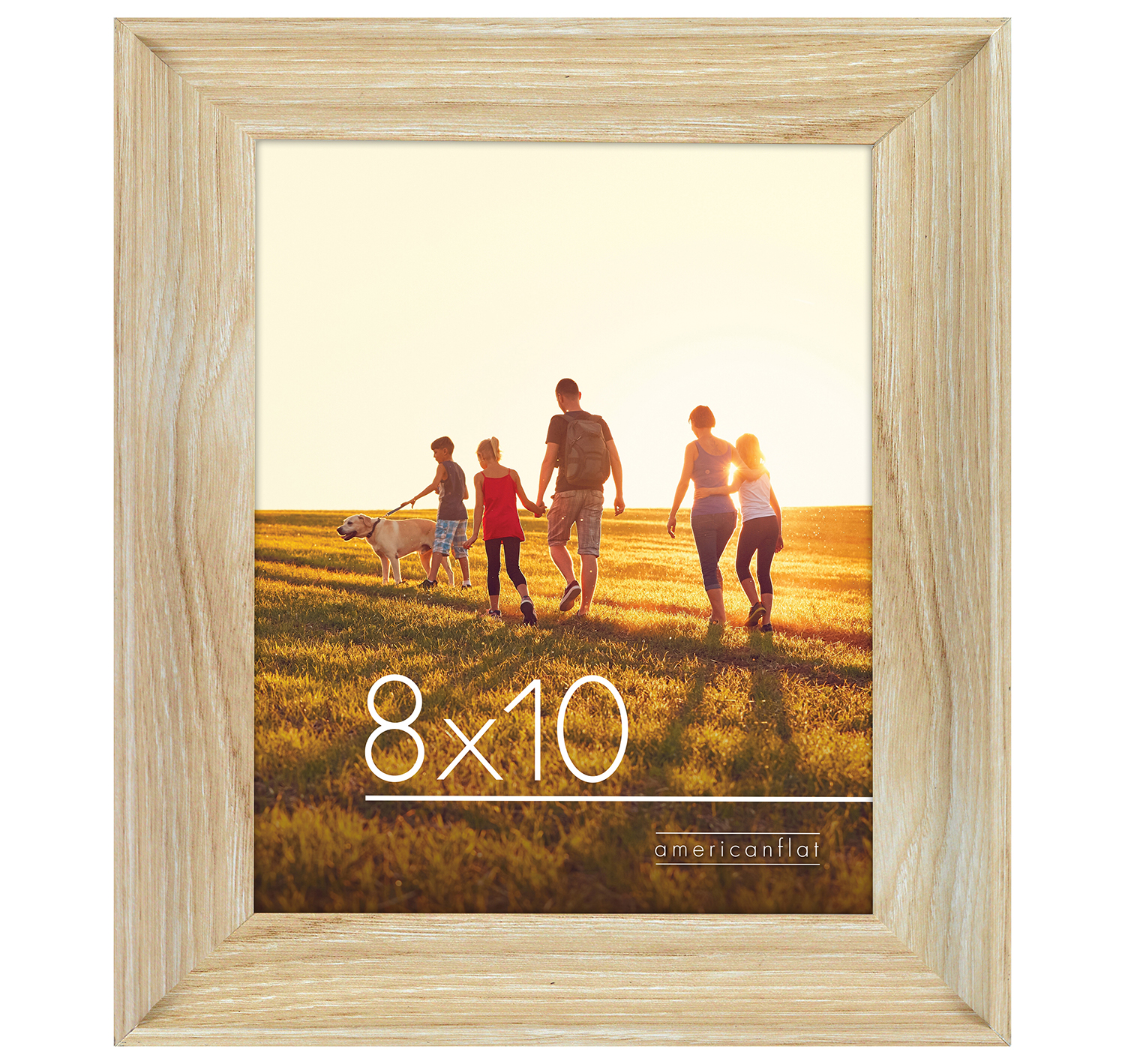 miniature 13 - Americanflat Wood Picture Frame 4x6 5x7 8x10 Wall Tabletop Easel Pick Size Color