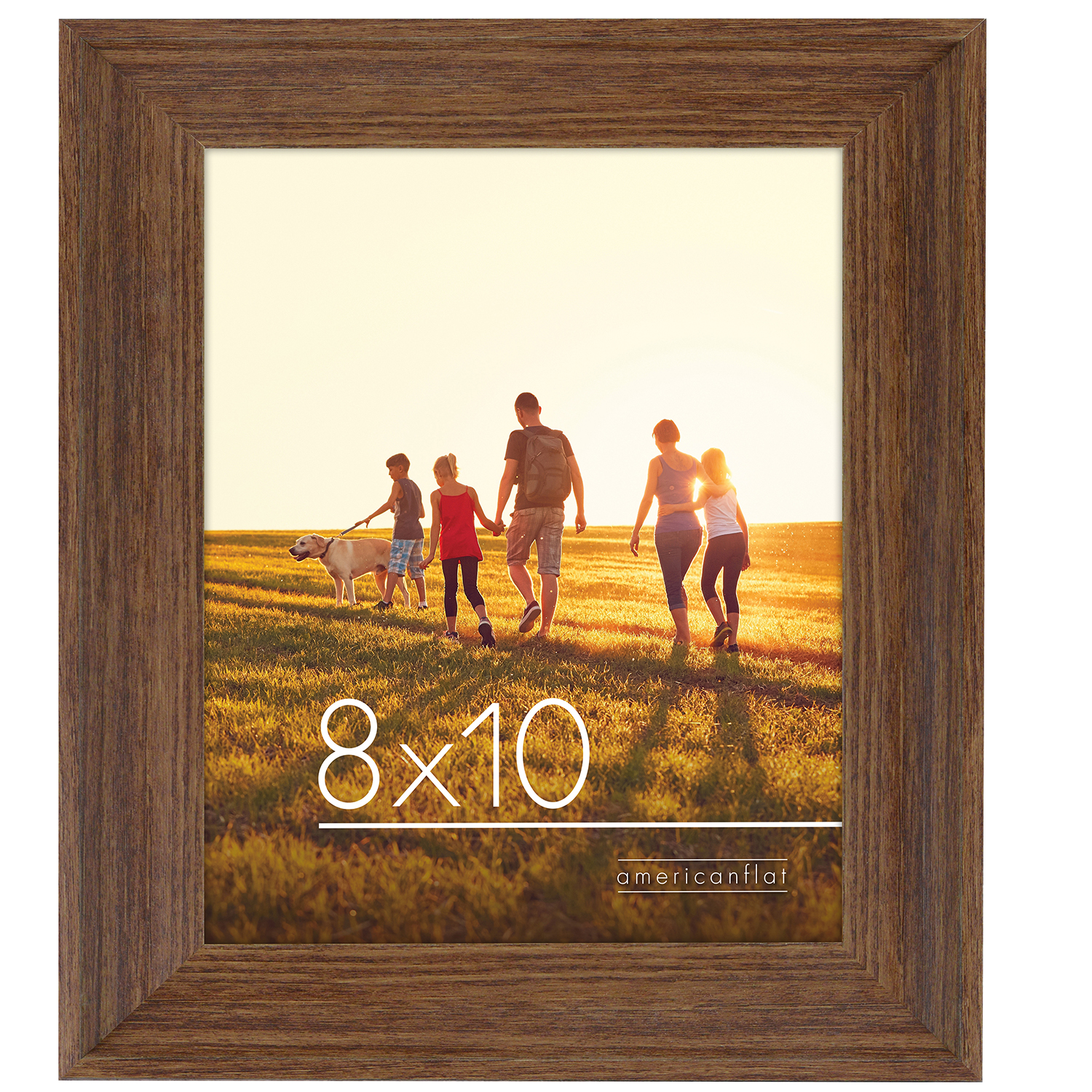 miniature 16 - Americanflat Wood Picture Frame 4x6 5x7 8x10 Wall Tabletop Easel Pick Size Color