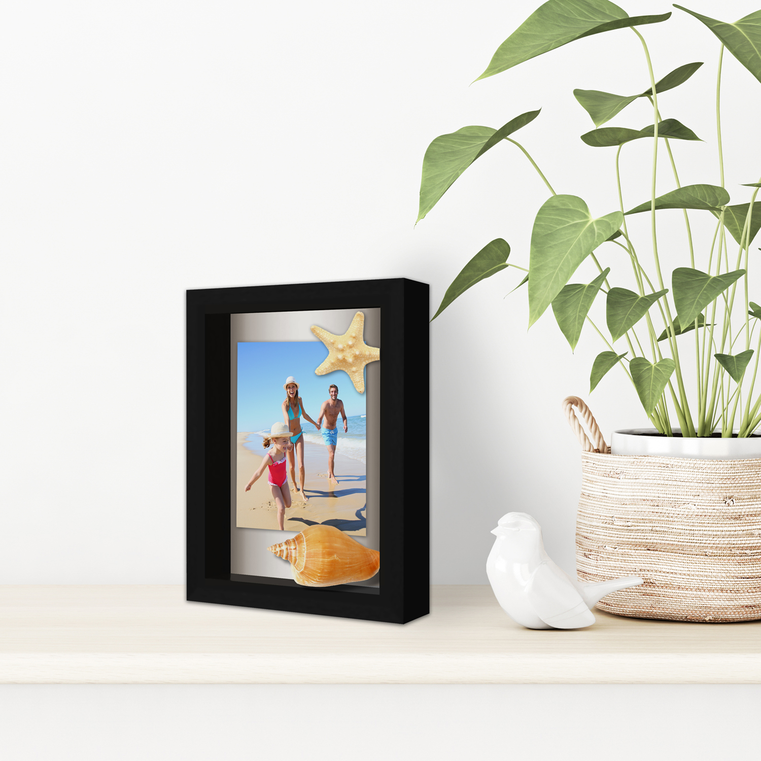 miniature 8 - Americanflat Shadow Box Frame with Soft Linen Back - Variety of Sizes