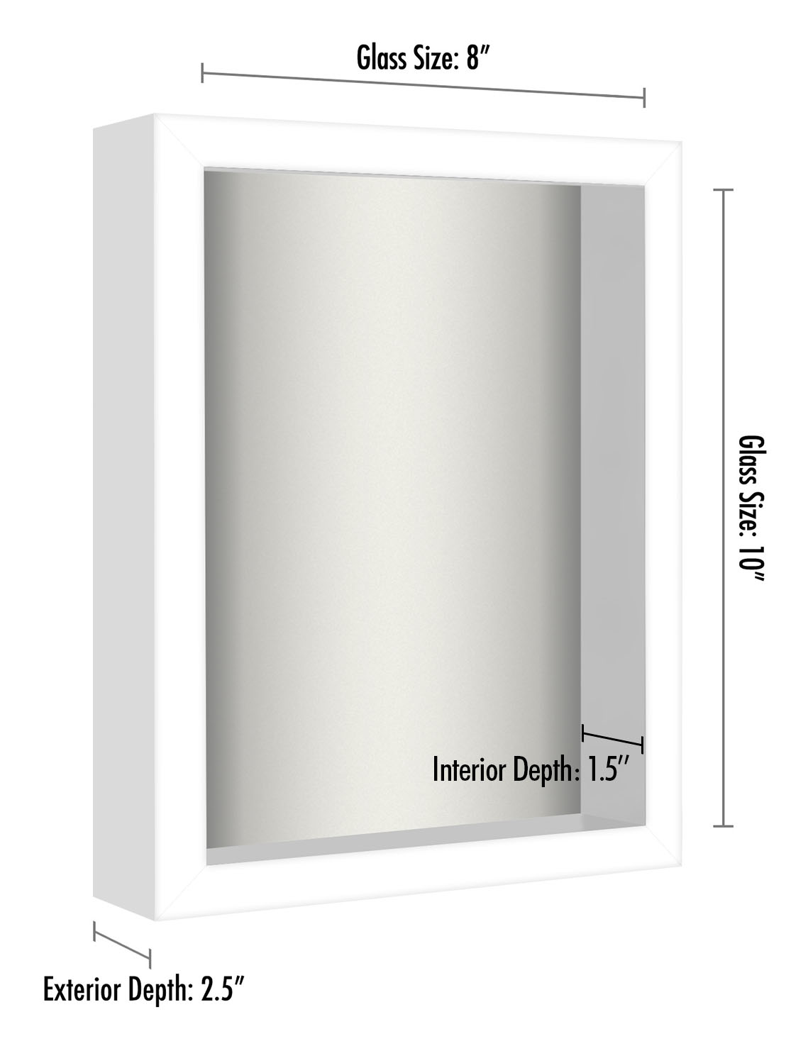 miniature 15 - Americanflat Shadow Box Frame with Soft Linen Back - Variety of Sizes