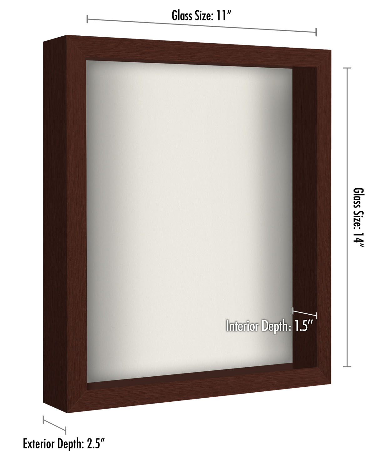 miniature 34 - Americanflat Shadow Box Frame with Soft Linen Back - Variety of Sizes