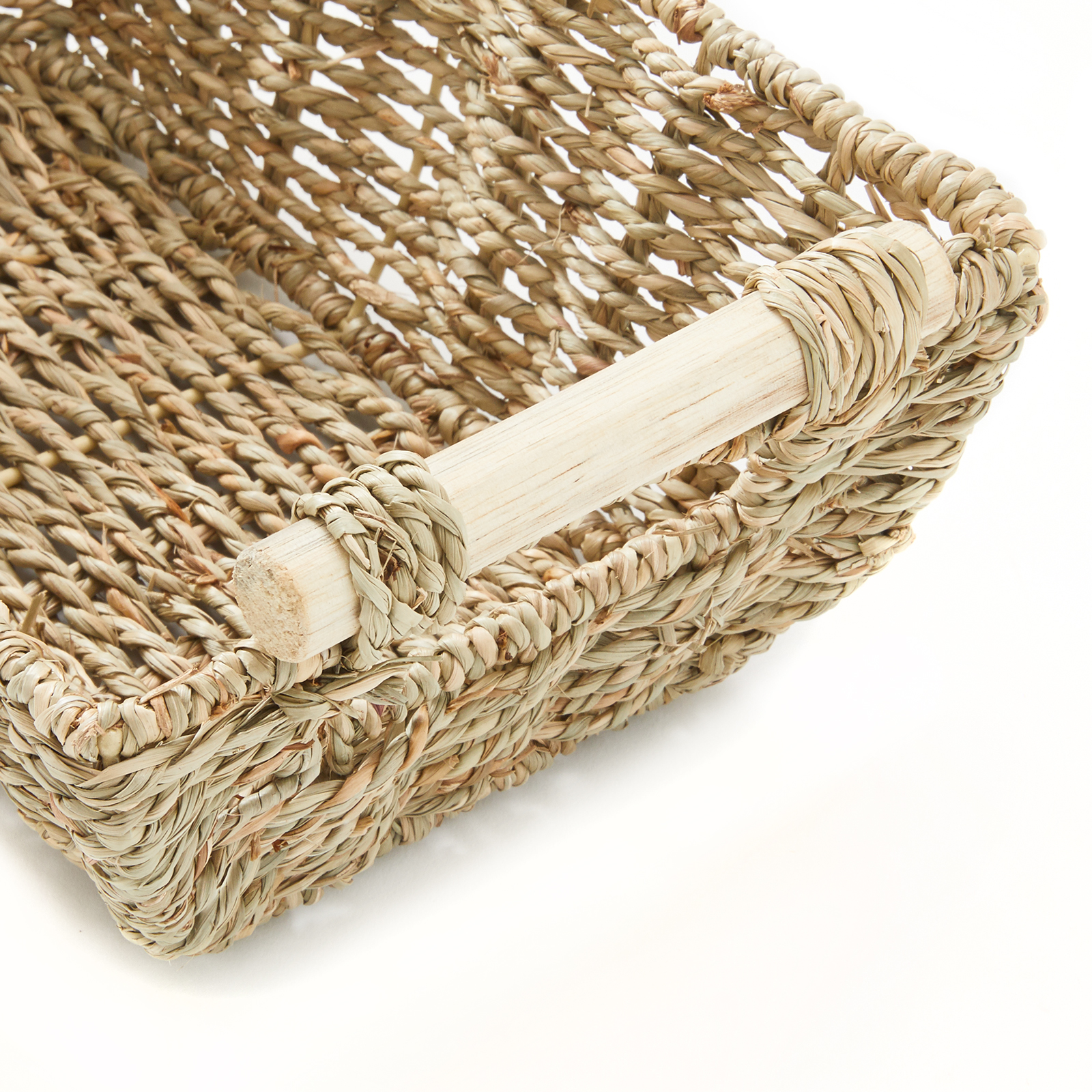 """miniature 4 - Americanflat Storage Basket with Wooden Handles - 12"""" x 7"""""""