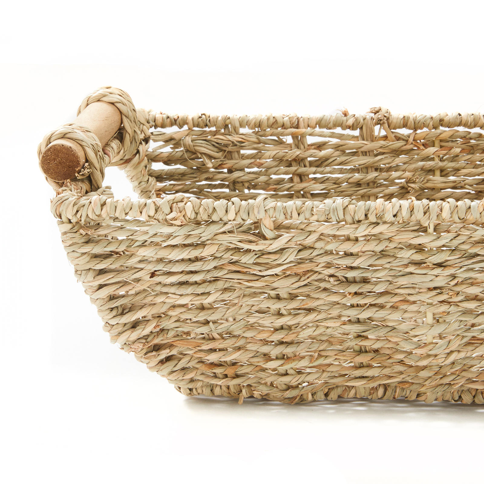 """miniature 3 - Americanflat Storage Basket with Wooden Handles - 12"""" x 7"""""""