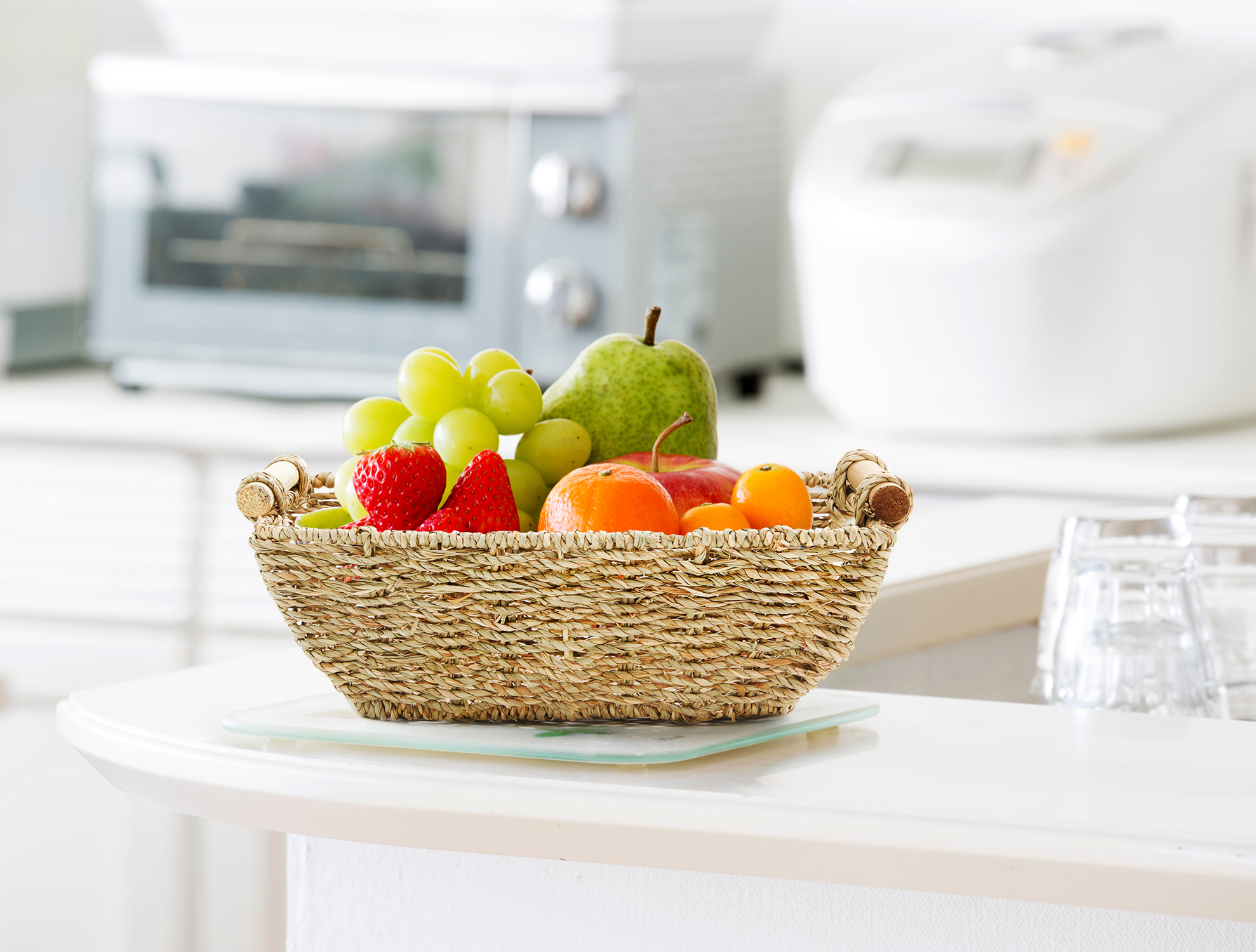 """miniature 6 - Americanflat Storage Basket with Wooden Handles - 12"""" x 7"""""""