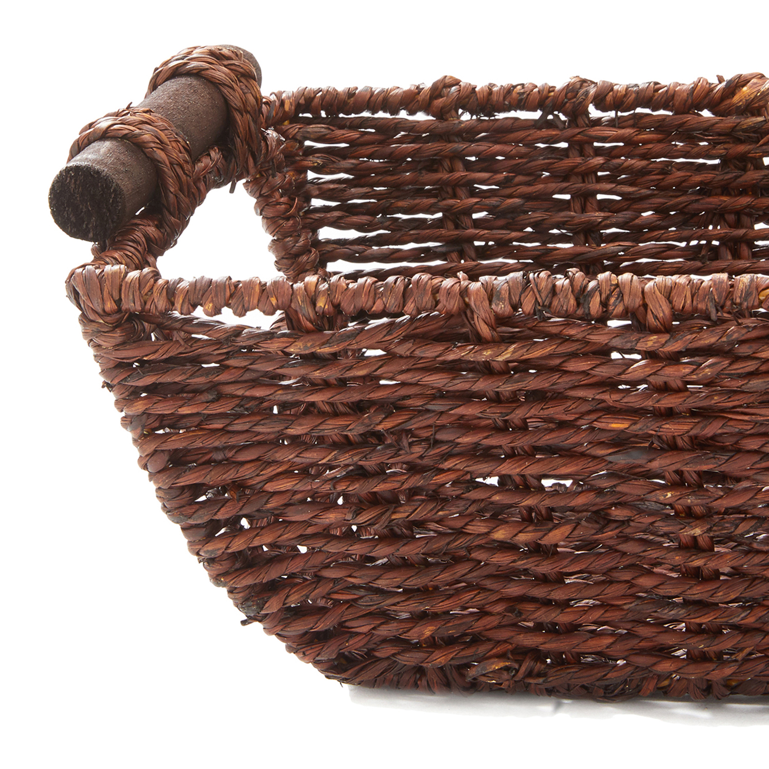"""miniature 8 - Americanflat Storage Basket with Wooden Handles - 12"""" x 7"""""""