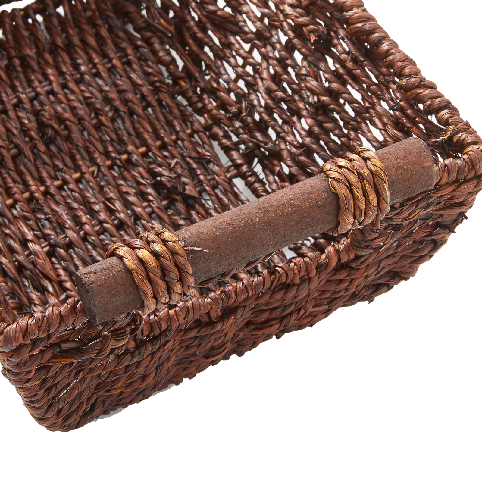 """miniature 9 - Americanflat Storage Basket with Wooden Handles - 12"""" x 7"""""""