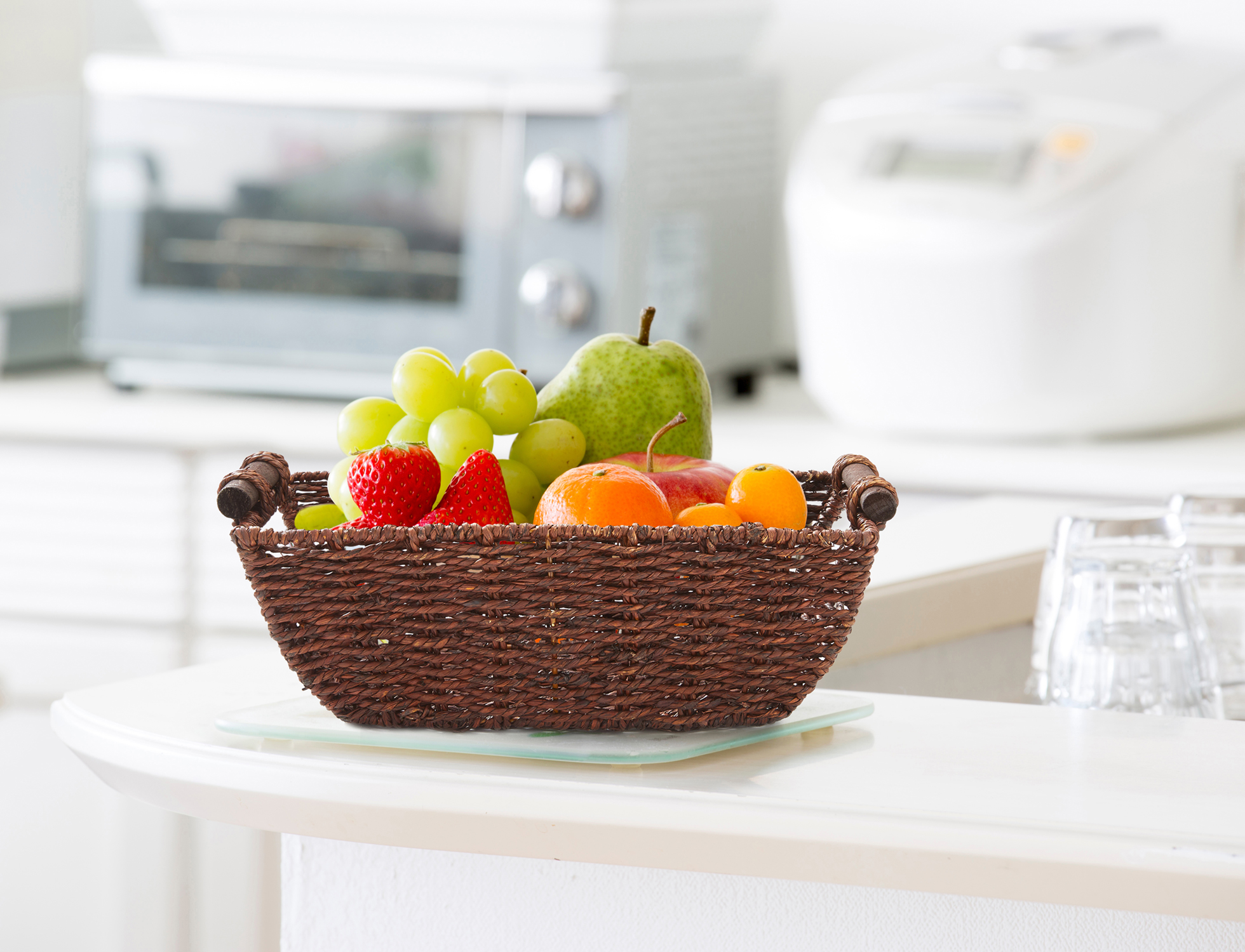 """miniature 11 - Americanflat Storage Basket with Wooden Handles - 12"""" x 7"""""""