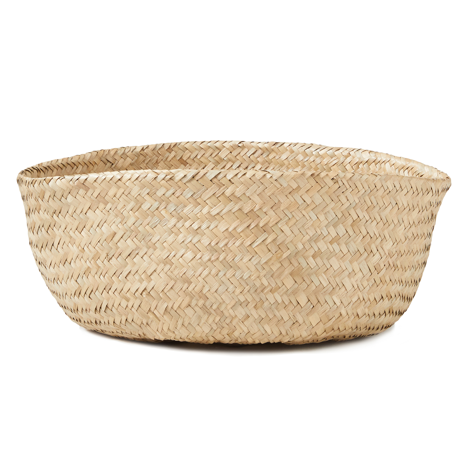 miniature 3 - Hand-Woven Palm and Seagrass Belly Baskets for Storage and Organization