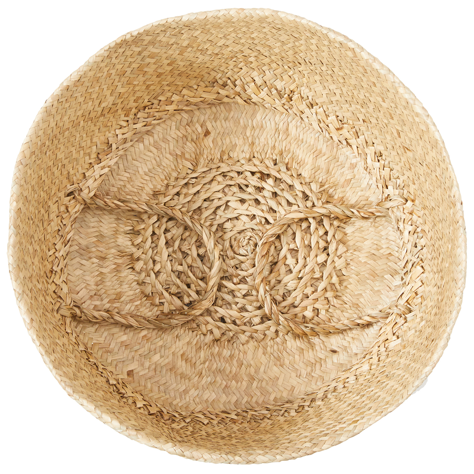 miniature 9 - Hand-Woven Palm and Seagrass Belly Baskets for Storage and Organization