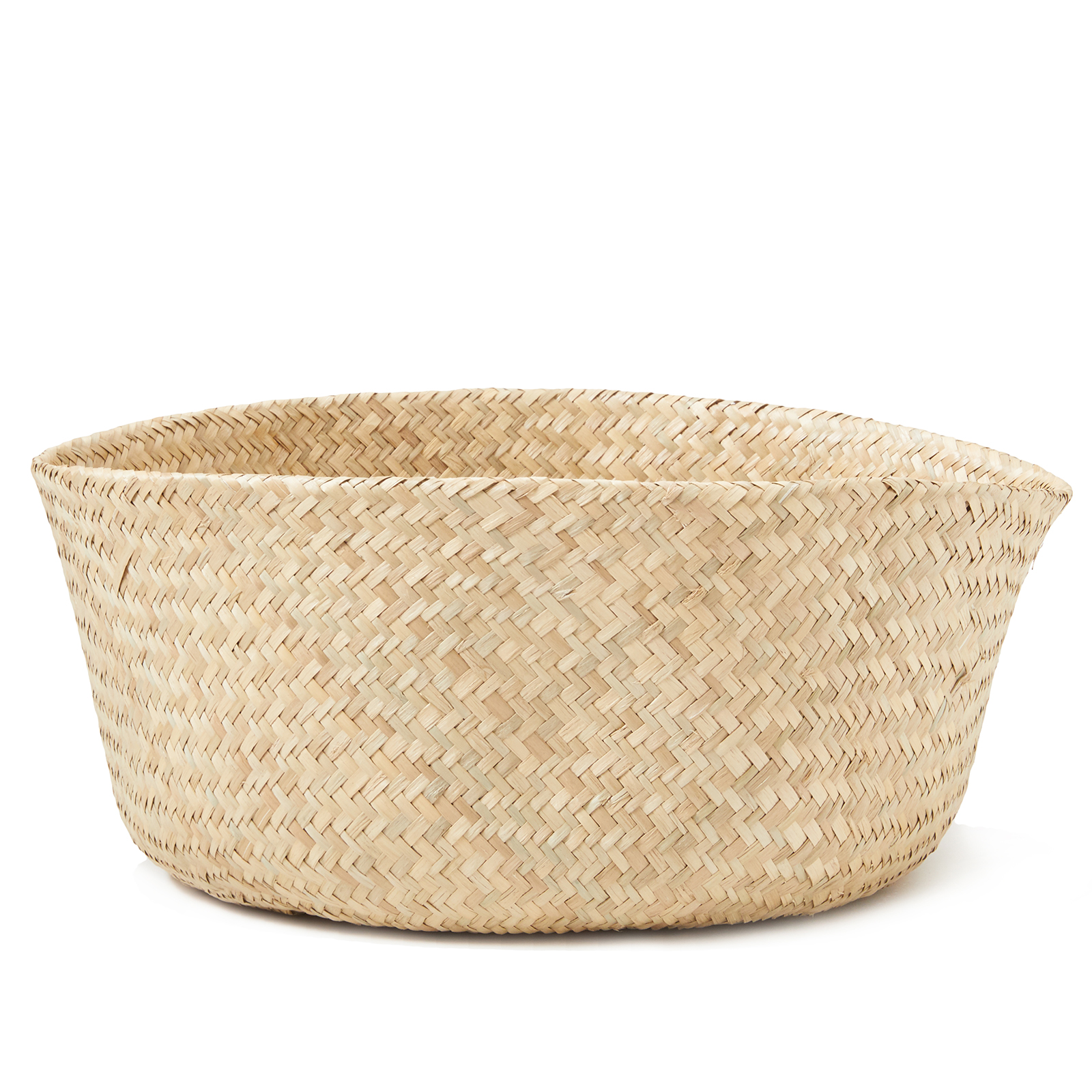 miniature 8 - Hand-Woven Palm and Seagrass Belly Baskets for Storage and Organization