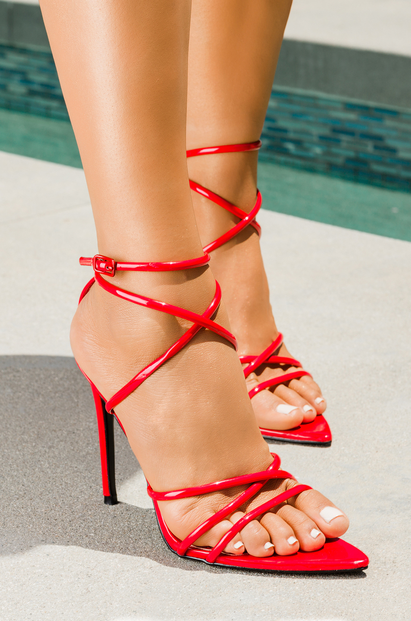 Cape Robbin ADA ROT Super Strappy Pointed Open Ankle Toe Ankle Open Strap ... 2a323d