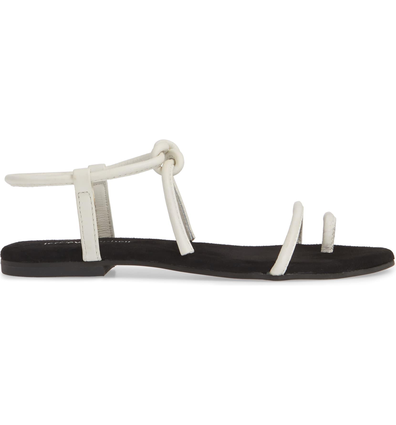 Jeffrey Campbell ASTER en cuir blanc à Lanières Plat Tie Sandal