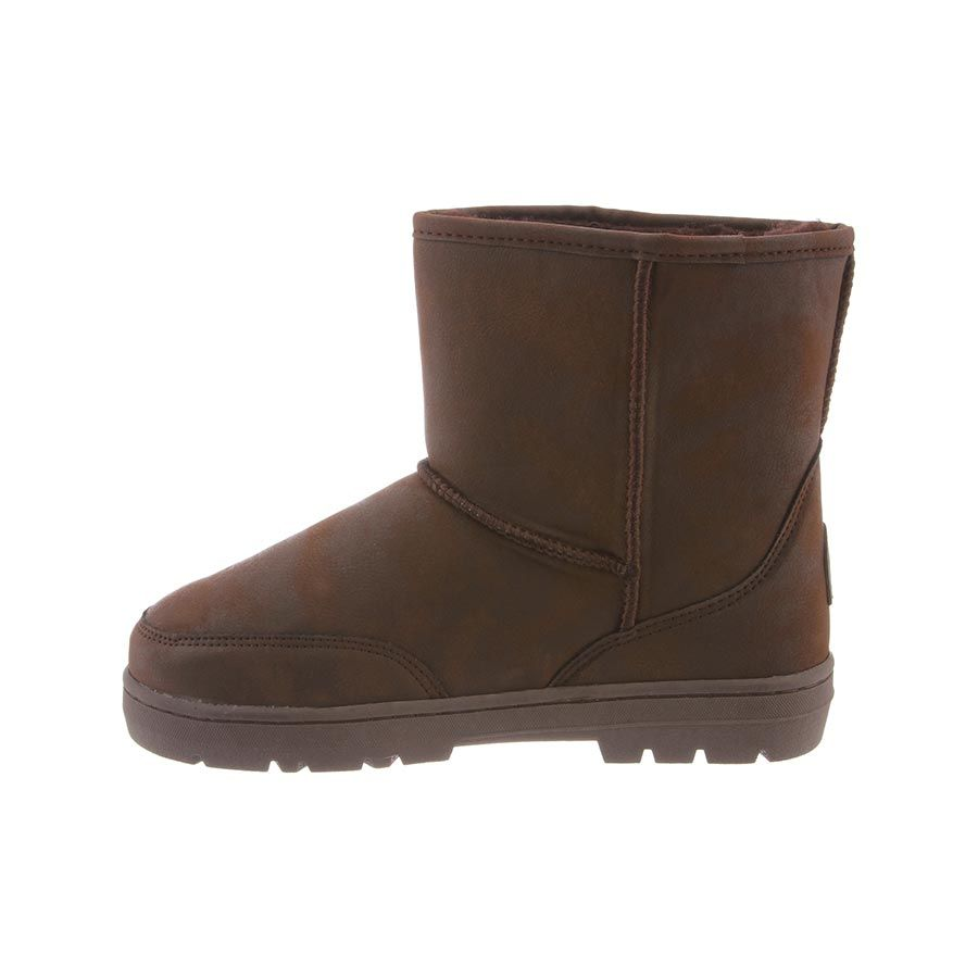 46e4b53e99e Details about BEARPAW Men's Patriot Chocolate II Suede Fur Lined Warm  Winter Short Snow Boot