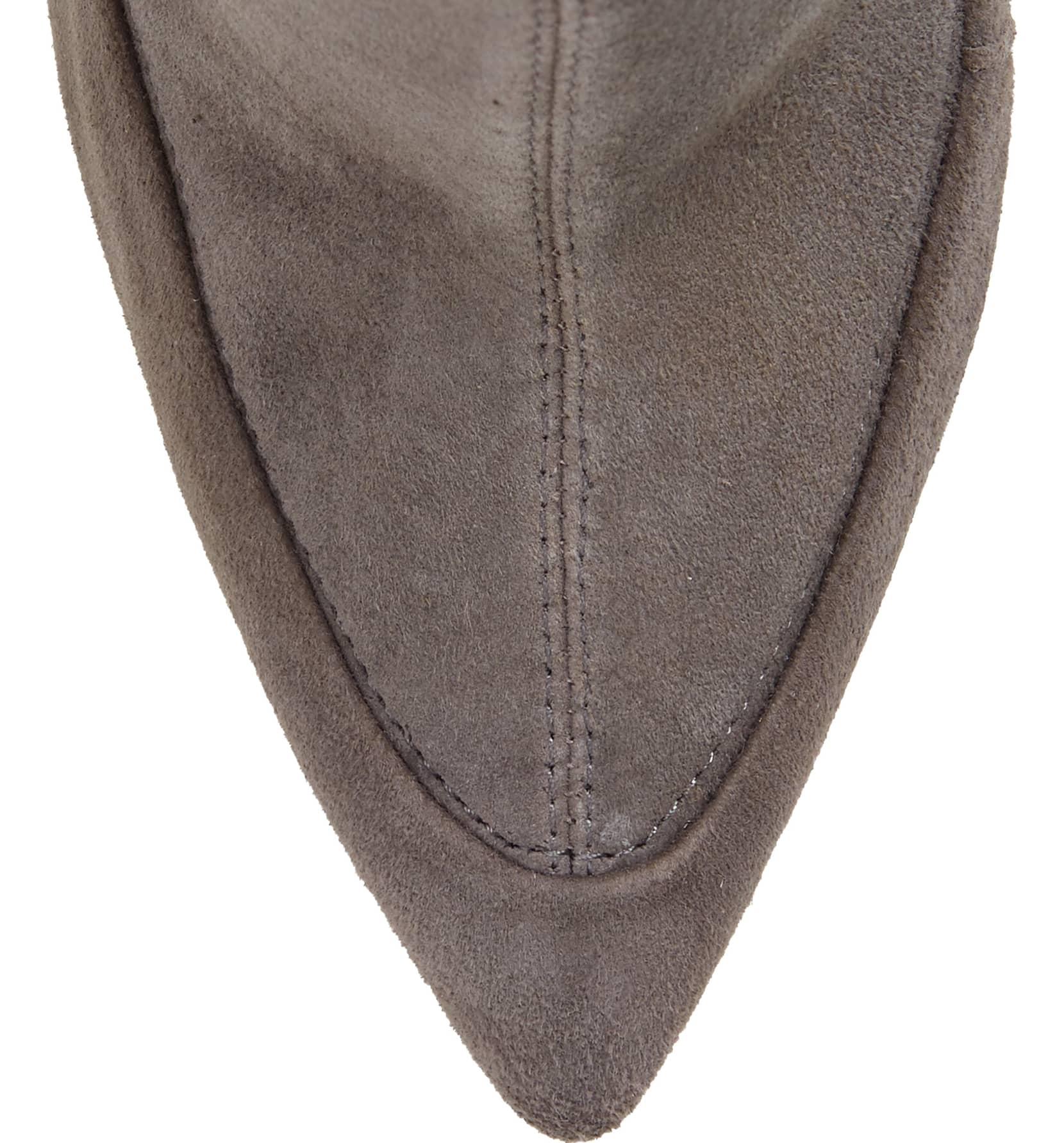 Pour La Victoire Cassie antracita Suede piel-apretado Suede antracita sobre la rodilla botas stiletto 859432