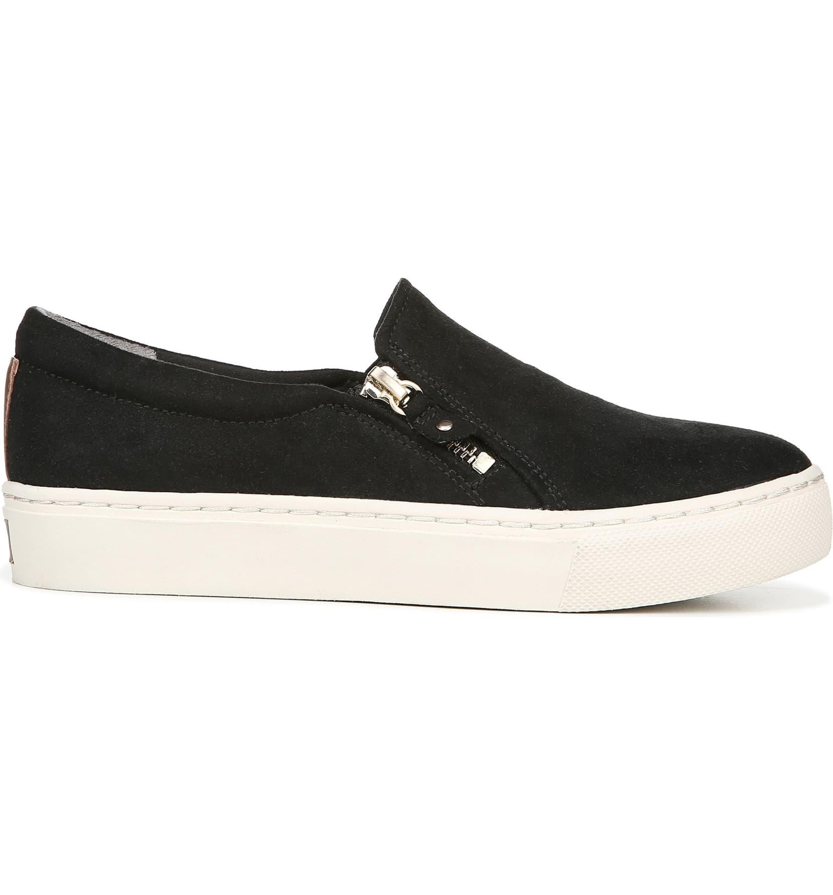 Dr Scholl/'s No Chill Dark Shadow Grey Microfiber Fashion Sneaker