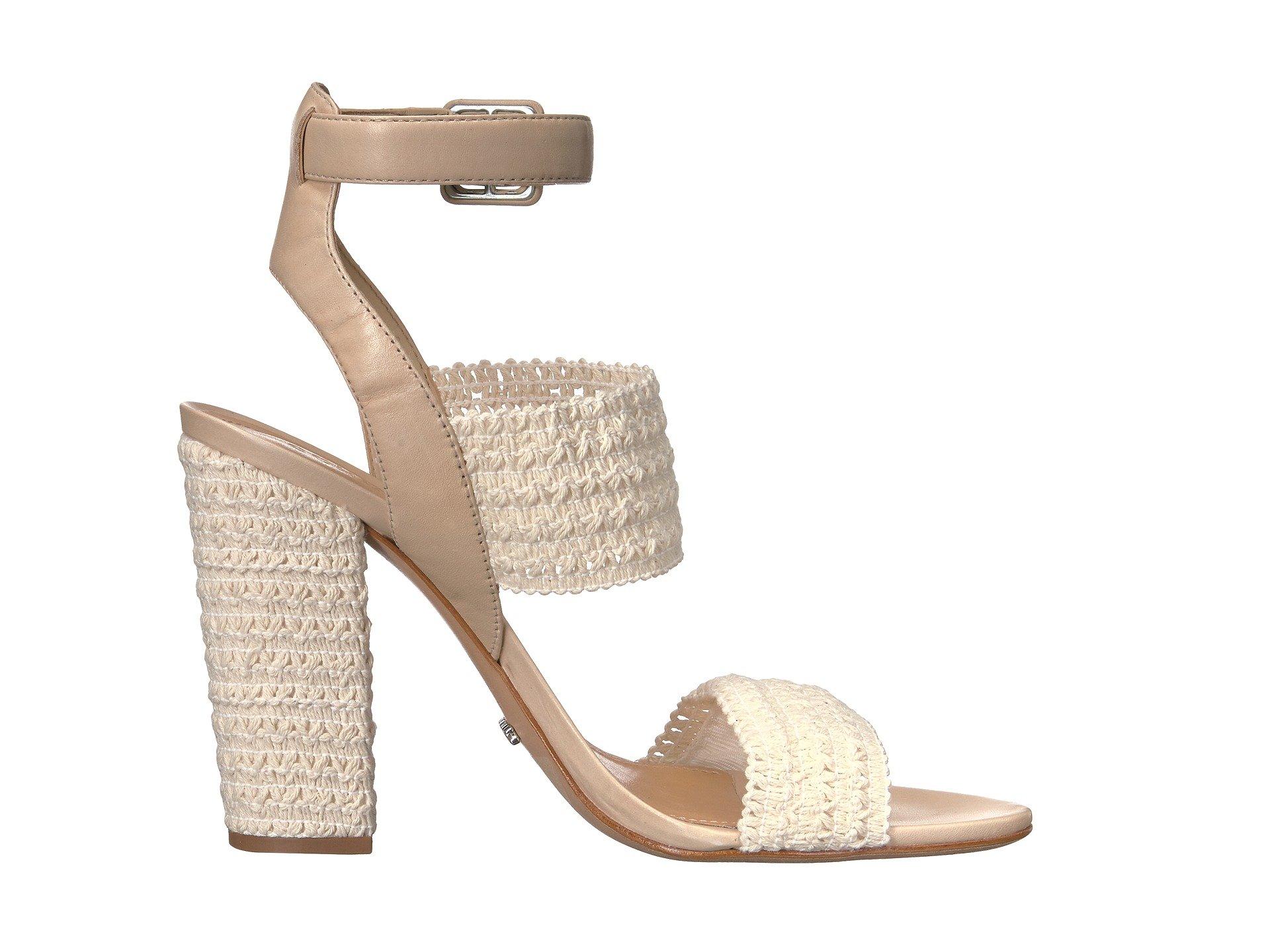 068f550b019 Schutz Glendy Vanila Cru Woven Open Toe Ankle Strap Block Heel ...