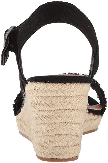 63b47e89710 Details about Lucky Brand Women's Marceline Espadrille Wedge Sandal, Black,