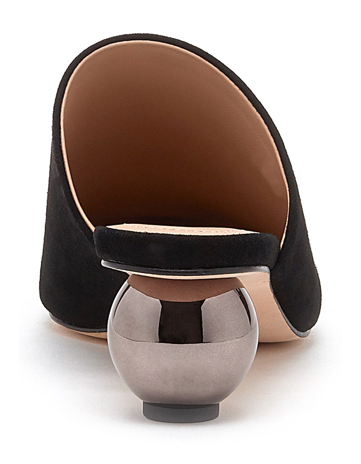 Pour La Victoire Kiera Kiera Kiera Sphere Mirrored Heeled Mule Black Suede Pionted Toe Pump b7c19c
