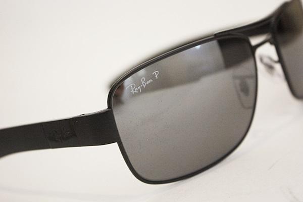 19a9e55ada Ray-Ban RB 3522 POLARIZED Sunglasses 006 82 Matte Black Gray Silver Mirror  64mm 2 2 of 3 ...