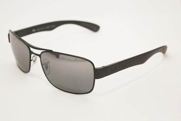7ea01e723d Ray-Ban RB 3522 POLARIZED Sunglasses 006 82 Matte Black Gray Silver ...