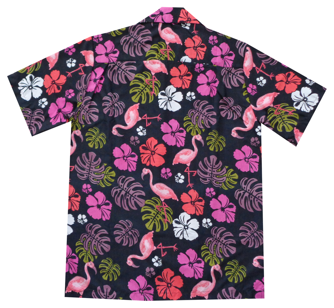 1ec0838e8 Hawaiian Shirts Mens Flamingo Leaf Print Beach Aloha Party Black S. About  this product. Picture 1 of 5; Picture 2 of 5; Picture 3 of 5; Picture 4 of 5