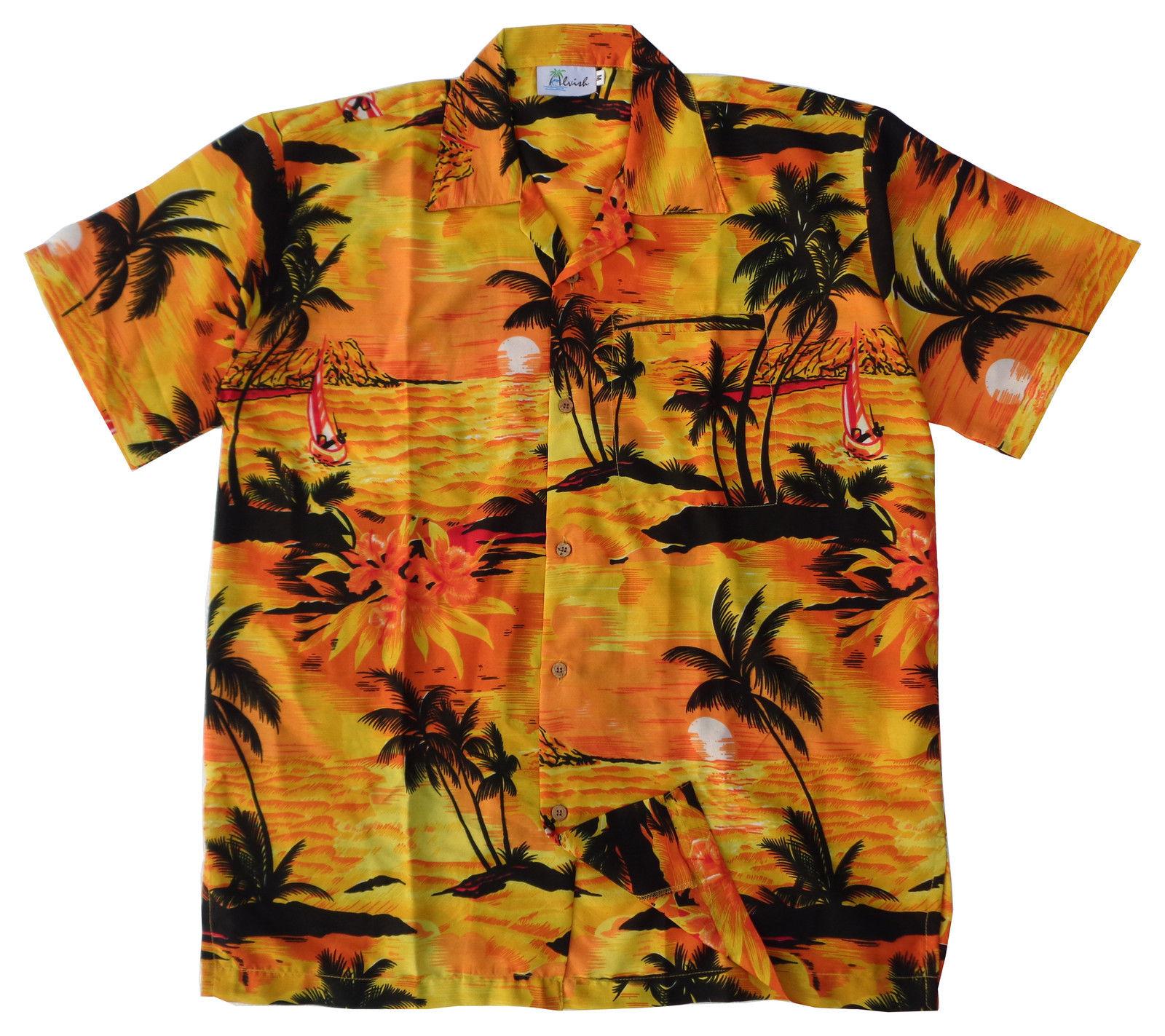 Hawaiian-Shirt-Mens-Allover-Print-Beach-Camp-Party-Aloha-Beach-Holiday-Camp thumbnail 17