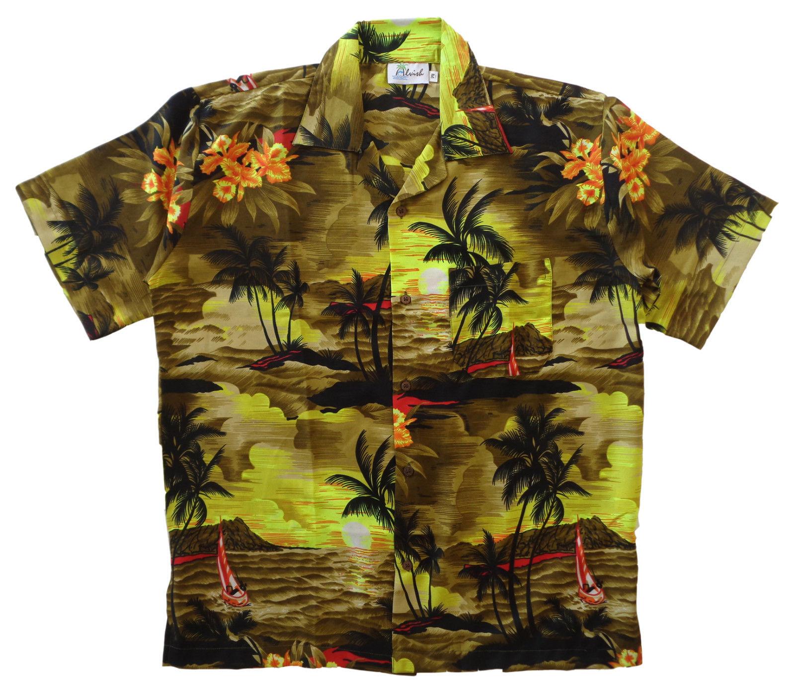 Hawaiian-Shirt-Mens-Allover-Print-Beach-Camp-Party-Aloha-Beach-Holiday-Camp thumbnail 5