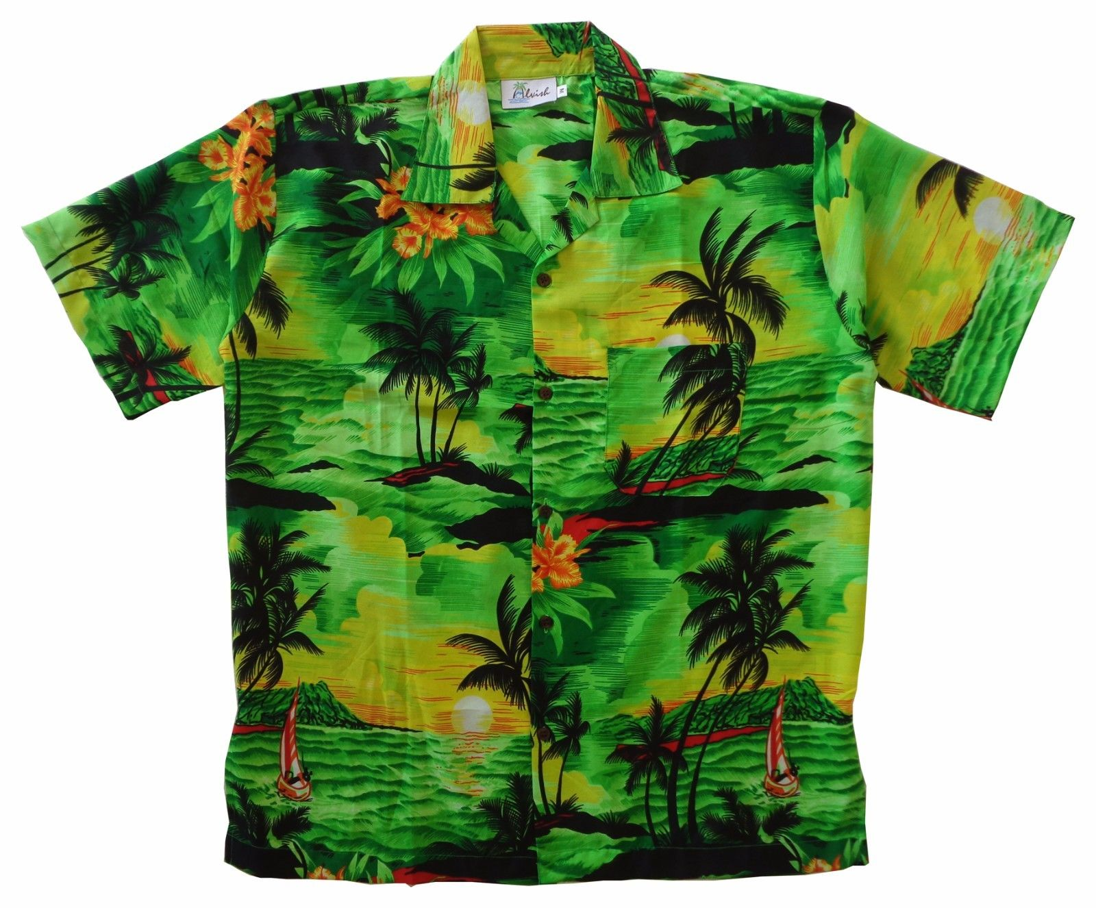 Hawaiian-Shirt-Mens-Allover-Print-Beach-Camp-Party-Aloha-Beach-Holiday-Camp thumbnail 11