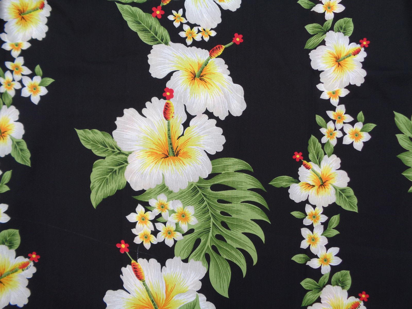 Hawaiian-Shirts-Mens-Hibiscus-Flower-Print-Beach-Party-Aloha thumbnail 7
