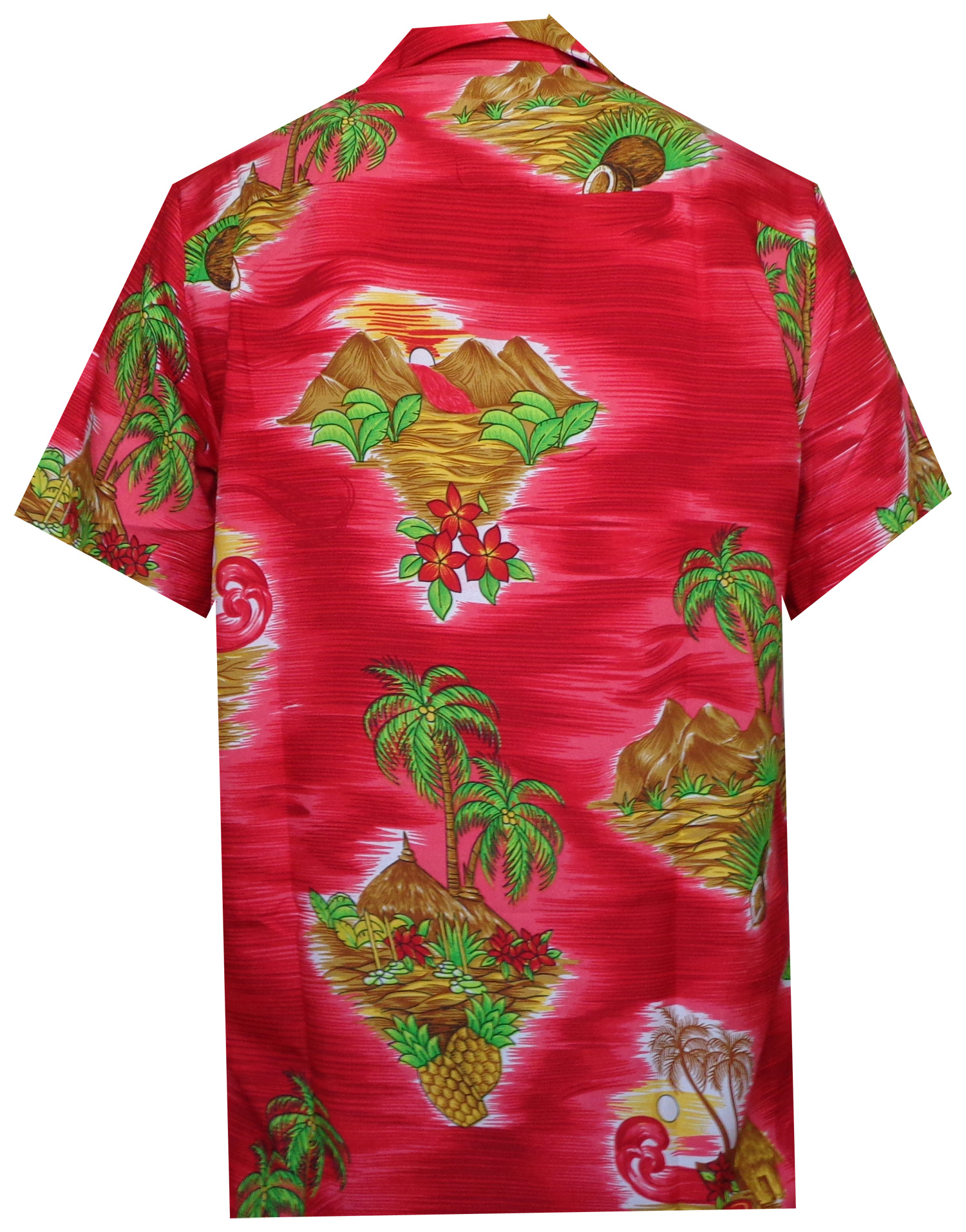 Hawaiian-Shirt-Mens-Scenic-Flower-Print-Beach-Aloha-Party-Holiday-Camp thumbnail 14