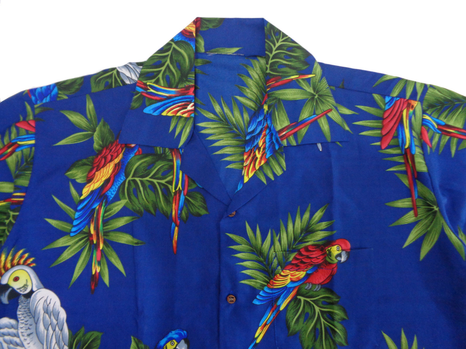 Hawaiian-Shirt-Mens-Parrot-Toucan-Print-Beach-Aloha-Party-Holiday-Camp thumbnail 9