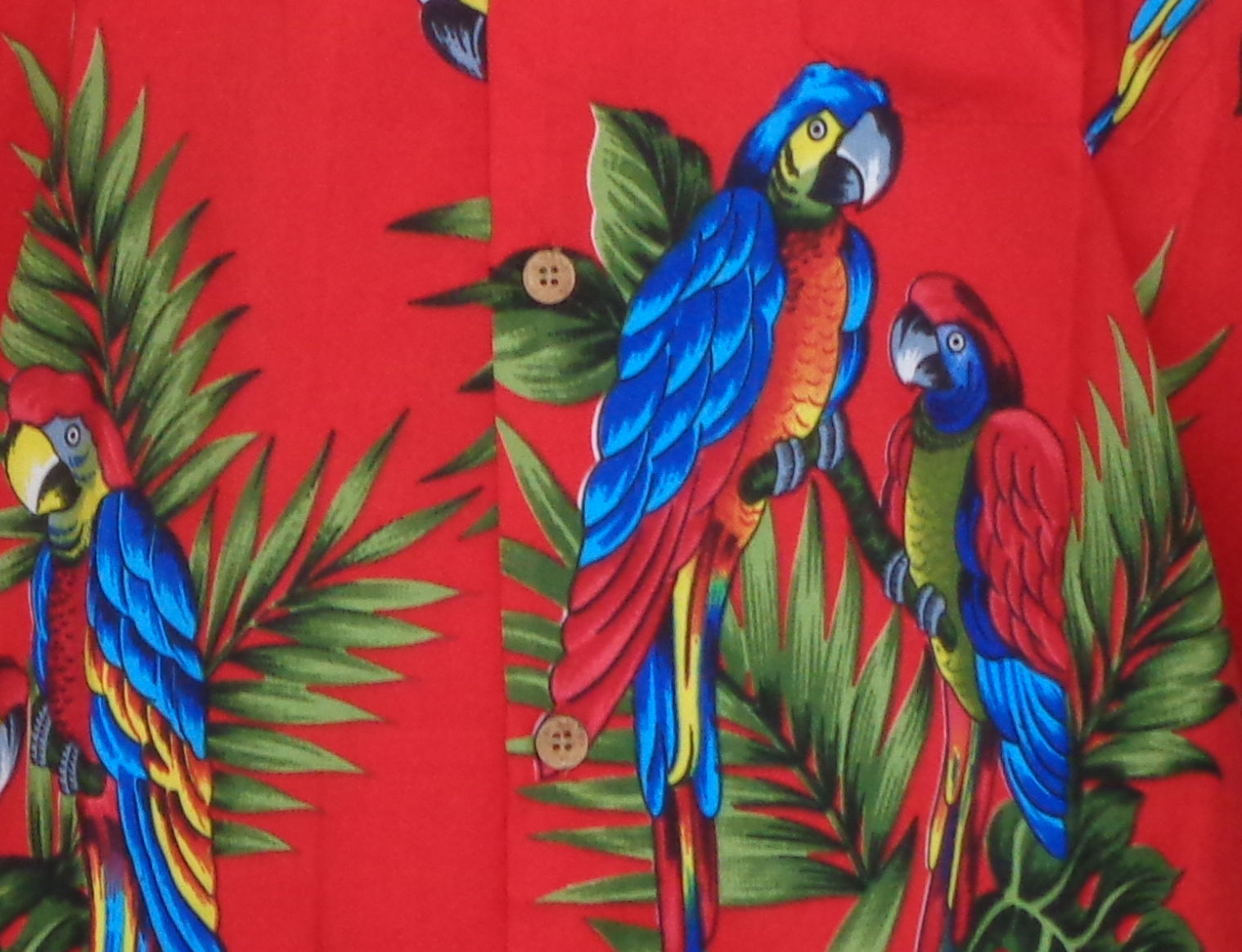 Hawaiian-Shirt-Mens-Parrot-Toucan-Print-Beach-Aloha-Party-Holiday-Camp thumbnail 6