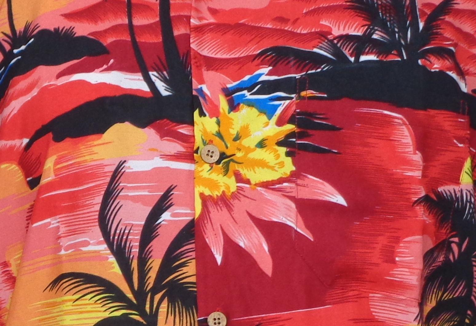 Hawaiian-Shirt-Mens-Allover-Print-Beach-Camp-Party-Aloha-Beach-Holiday-Camp thumbnail 14