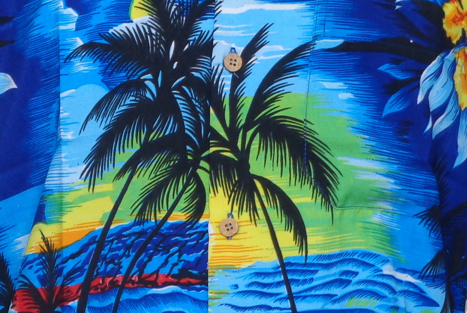 Hawaiian-Shirt-Mens-Allover-Print-Beach-Camp-Party-Aloha-Beach-Holiday-Camp thumbnail 8