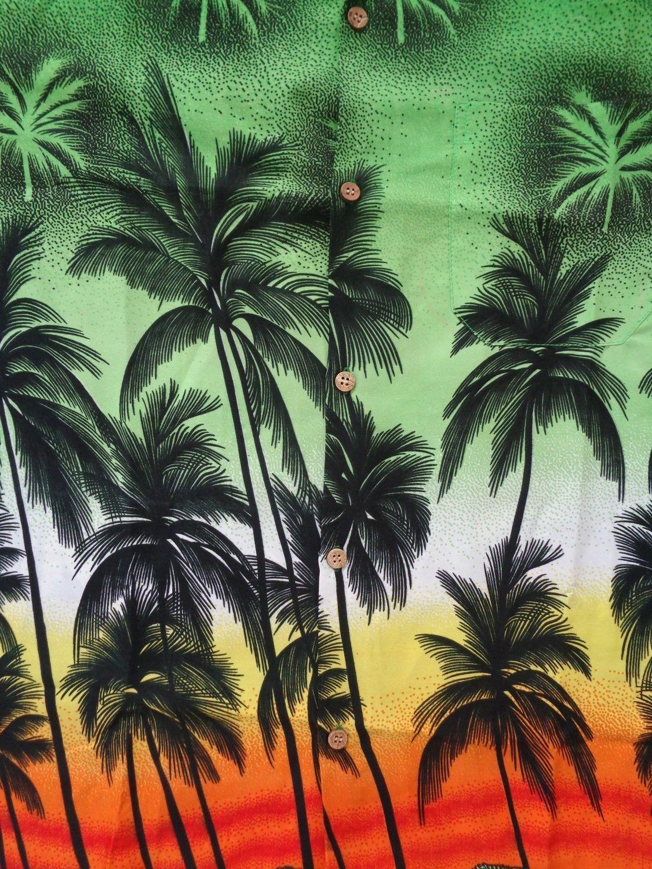 Hawaiian-Shirt-5-Mens-Allover-Coconut-Tree-Print-Beach-Aloha-Party thumbnail 17