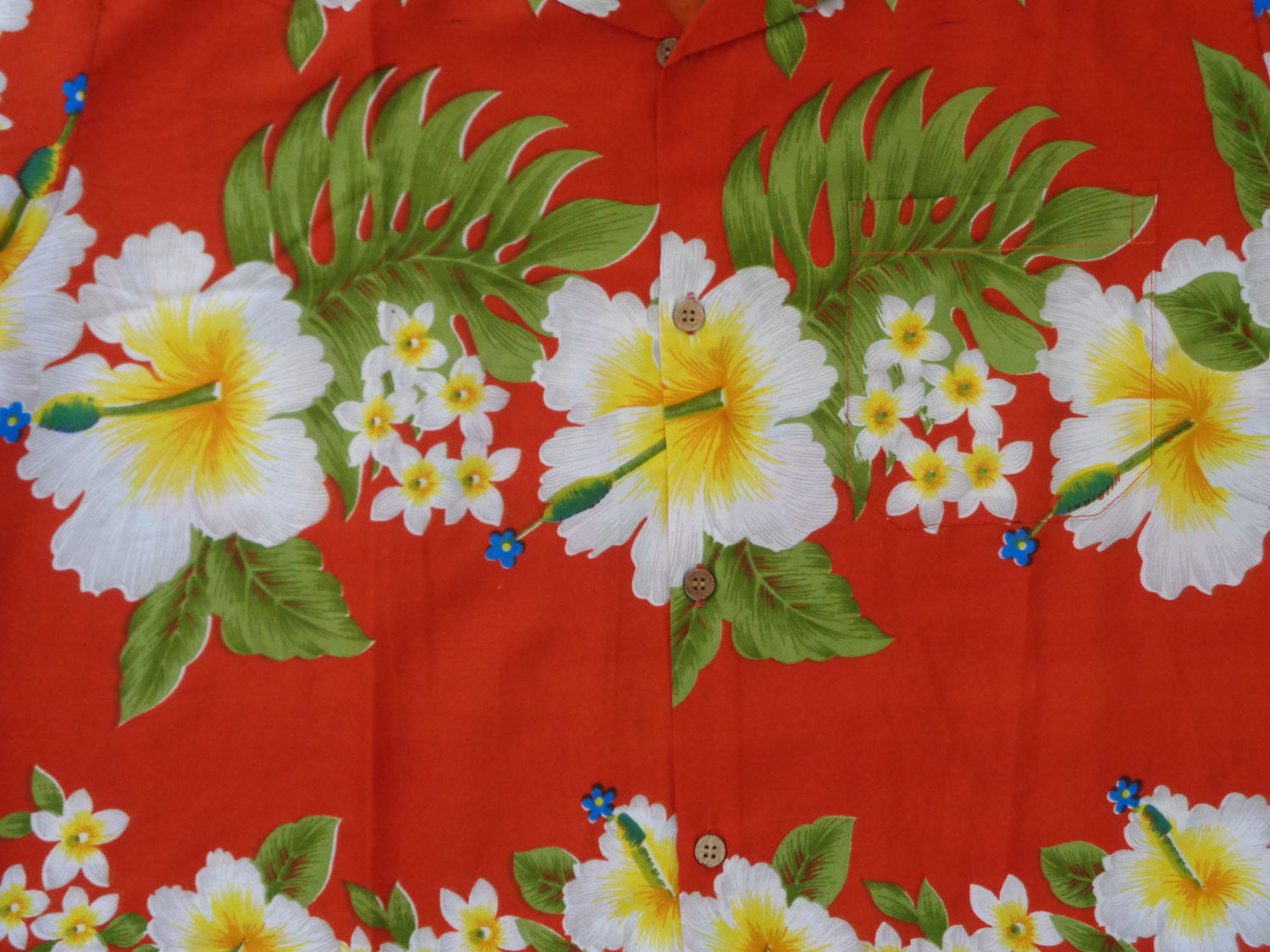 Hawaiian-Shirt-Mens-Hibiscus-Floral-Print-Aloha-Party-Beach-Camp-Holiday thumbnail 14