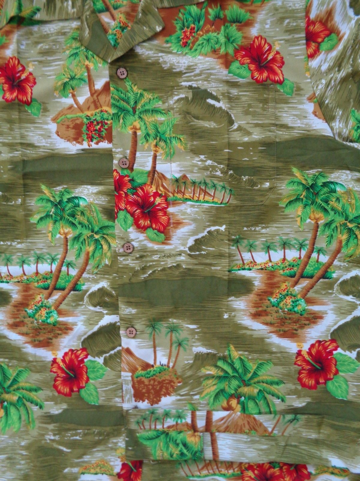 Hawaiian-Shirt-Mens-Scenic-Flower-Print-Beach-Aloha-Party-Holiday-Camp thumbnail 11