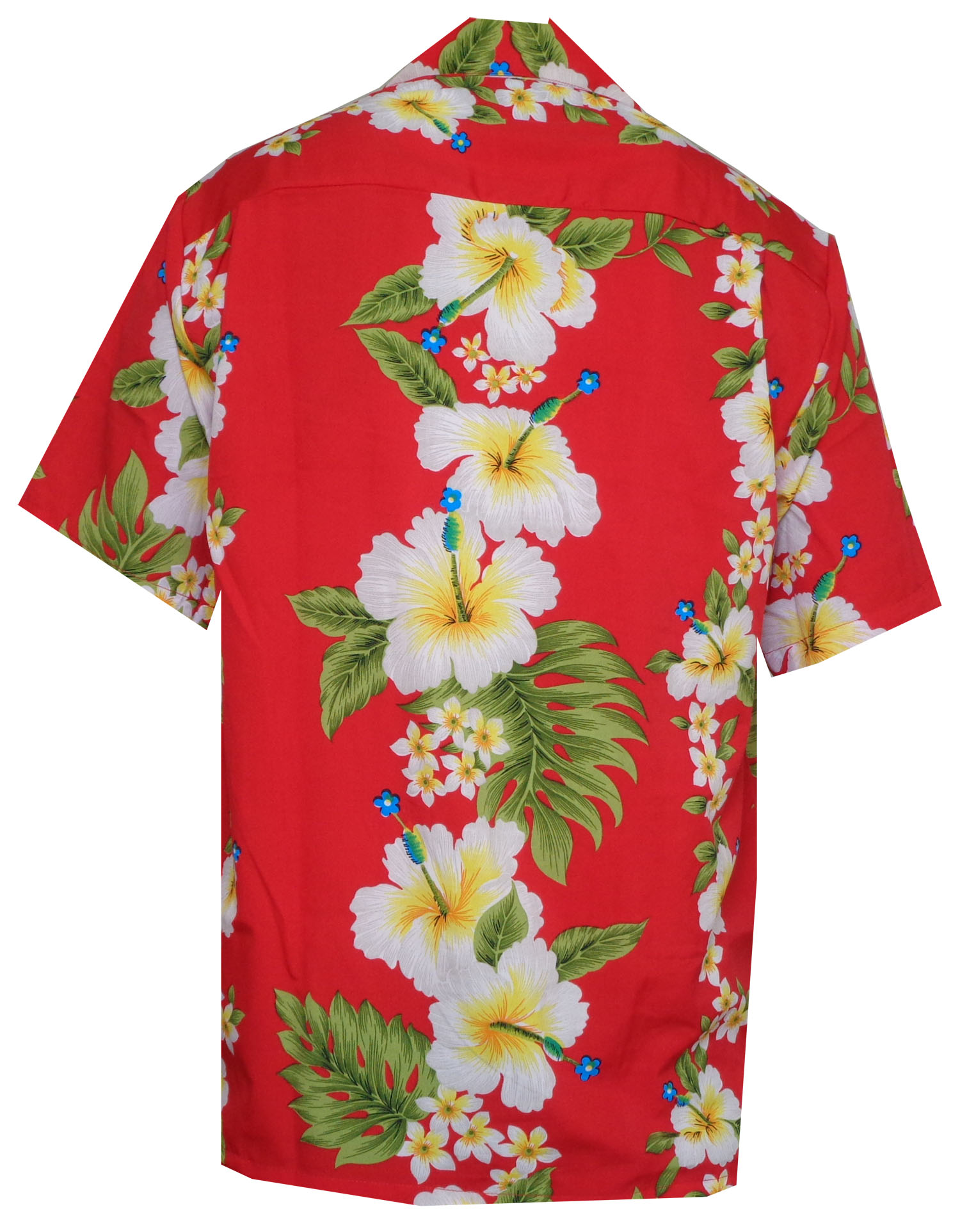 Hawaiian-Shirts-Mens-Hibiscus-Flower-Print-Beach-Party-Aloha thumbnail 10