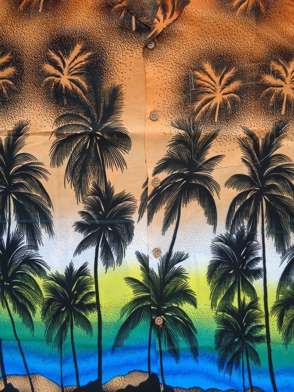 Hawaiian-Shirt-5-Mens-Allover-Coconut-Tree-Print-Beach-Aloha-Party thumbnail 20